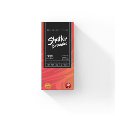 Sativa Shatter Brownies – 240mg